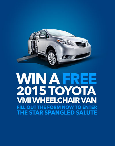 WIN a Brand New 2015 Toyota Sienna VMI Northstar Access 360 Wheelchair Van!