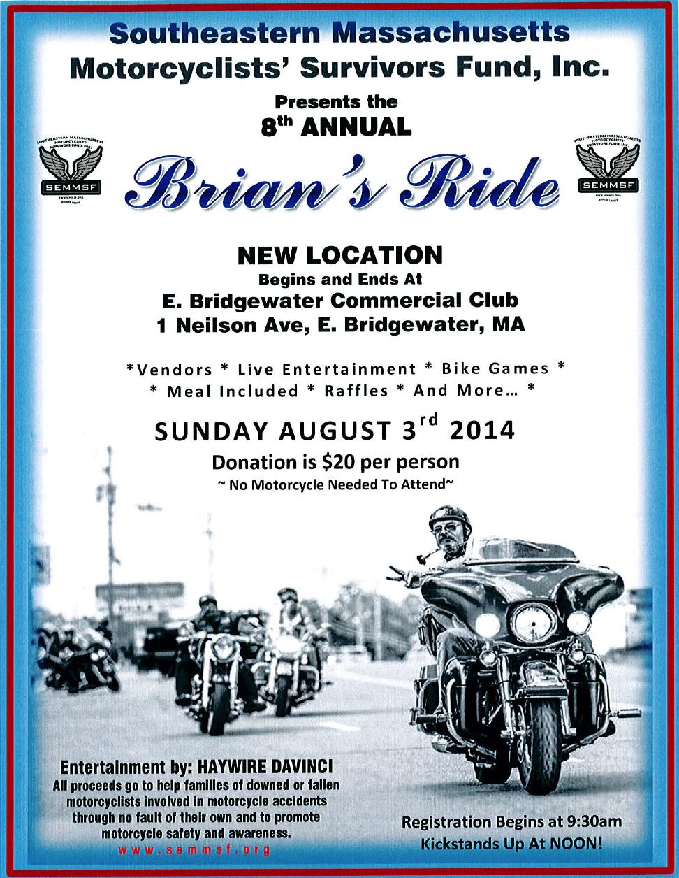 Brian's Ride  Flyer