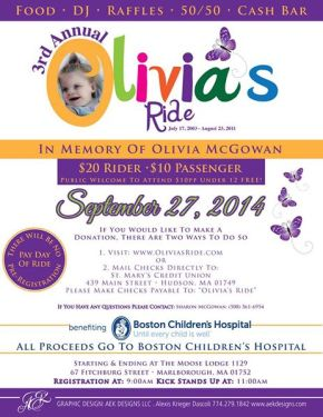 3rd Annual Olivia's Ride