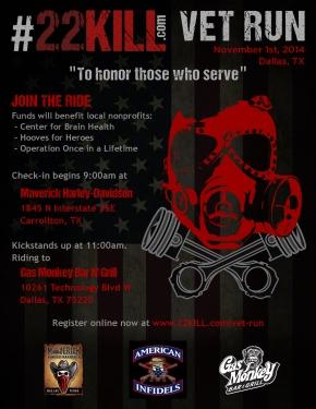 #22KILL Vet Run - To Honor Those Who Serve