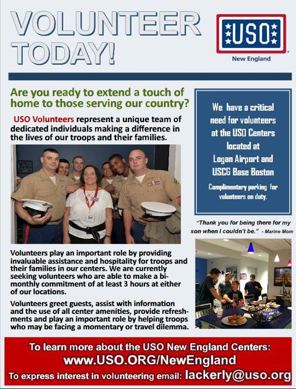 Volunteer With The New England USO