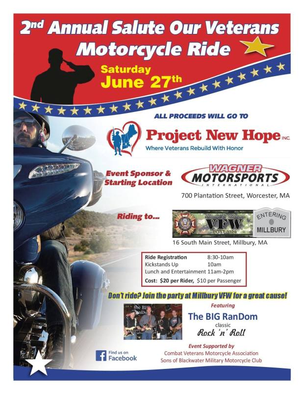 2nd Annual Salute Our veterans Motorcycle Ride