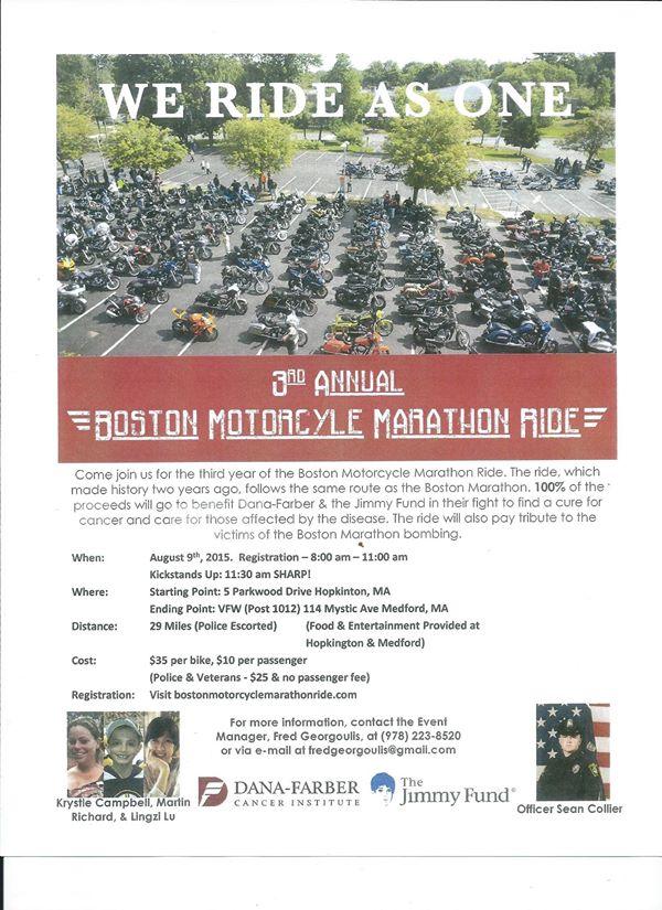Boston Motorcycle Marathon Ride