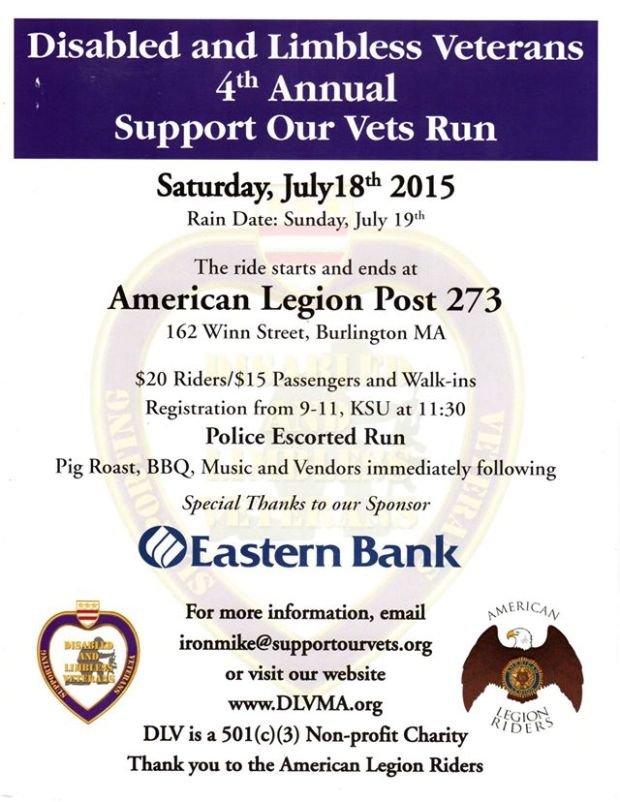 Disabled & Limbless Veterans 4th Annual Support Our Vets Run