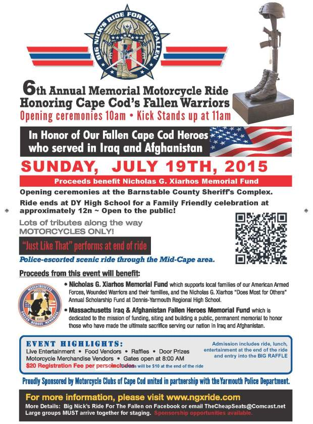6th Annual Big Nick's Ride for the Fallen Memorial Motorcycle Ride