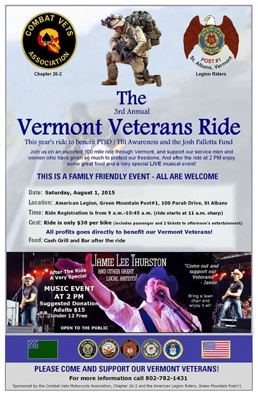 The 3rd Annual Vermont Veterans Ride