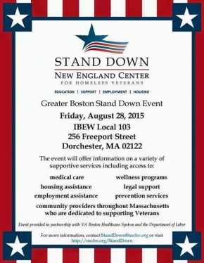 Greater Boston Stand Down Event
