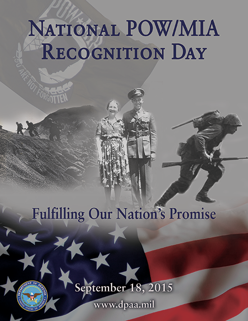 2015 NATIONAL POW:MIA RECOGNITION DAY September 18th