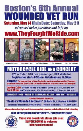 Boston's 6th Annual Wounded Vet Run updated